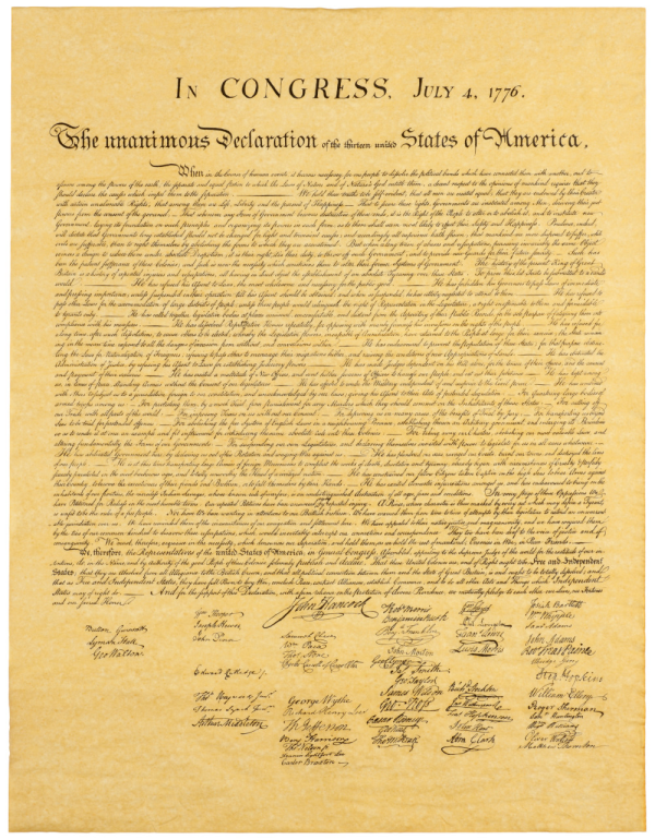 Declaration of Independence resized 600