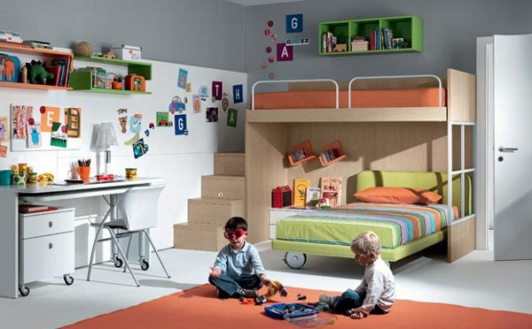 shared boys room with bunk beds resized 600