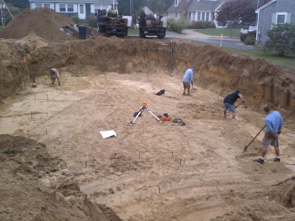 preparing the site for Cape Cod charmer