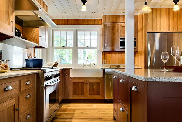 Wooden Kitchen for Cape Cod Home