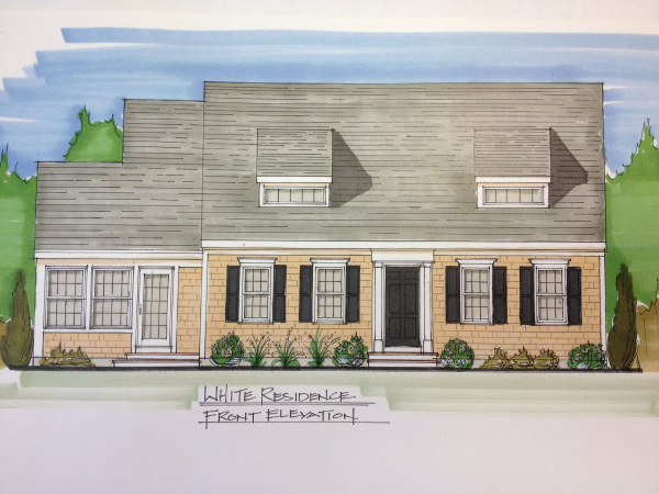 New cape Cod Home Rendering
