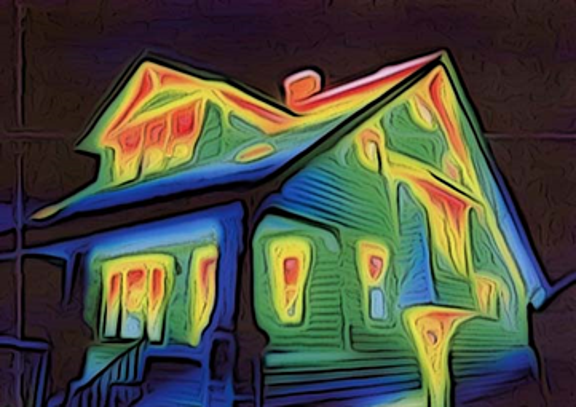 Cape Cod Home heat signature