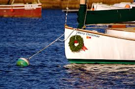 Catboat Christmas wreath