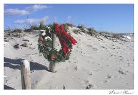 Christmas wreath on Cape Cod