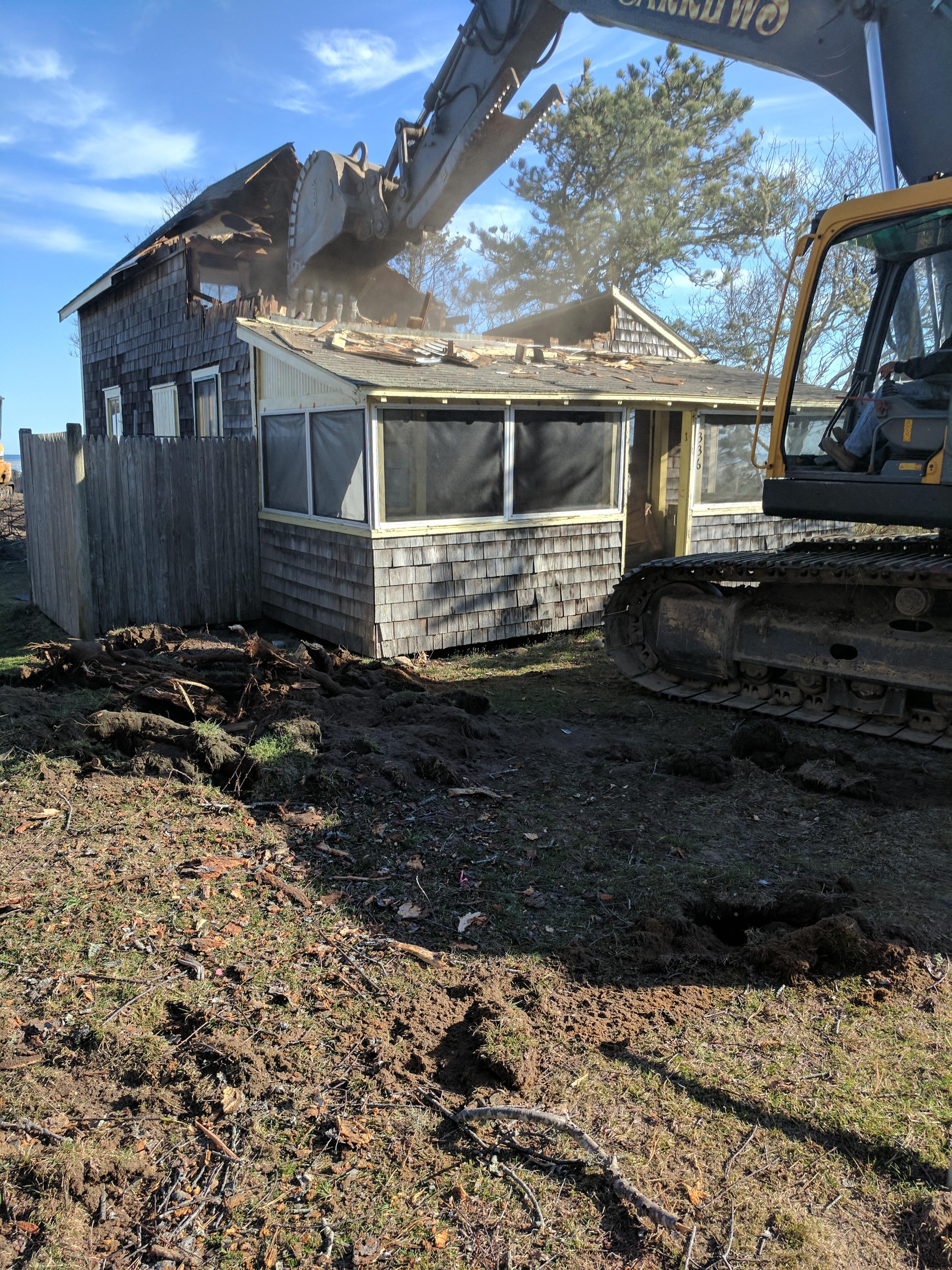 Demolition, Cape Cod Builder, waterfront, Custom