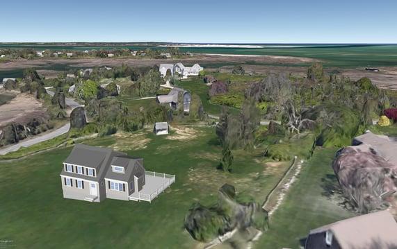 Cape Cod Custom Home Design 3D 2