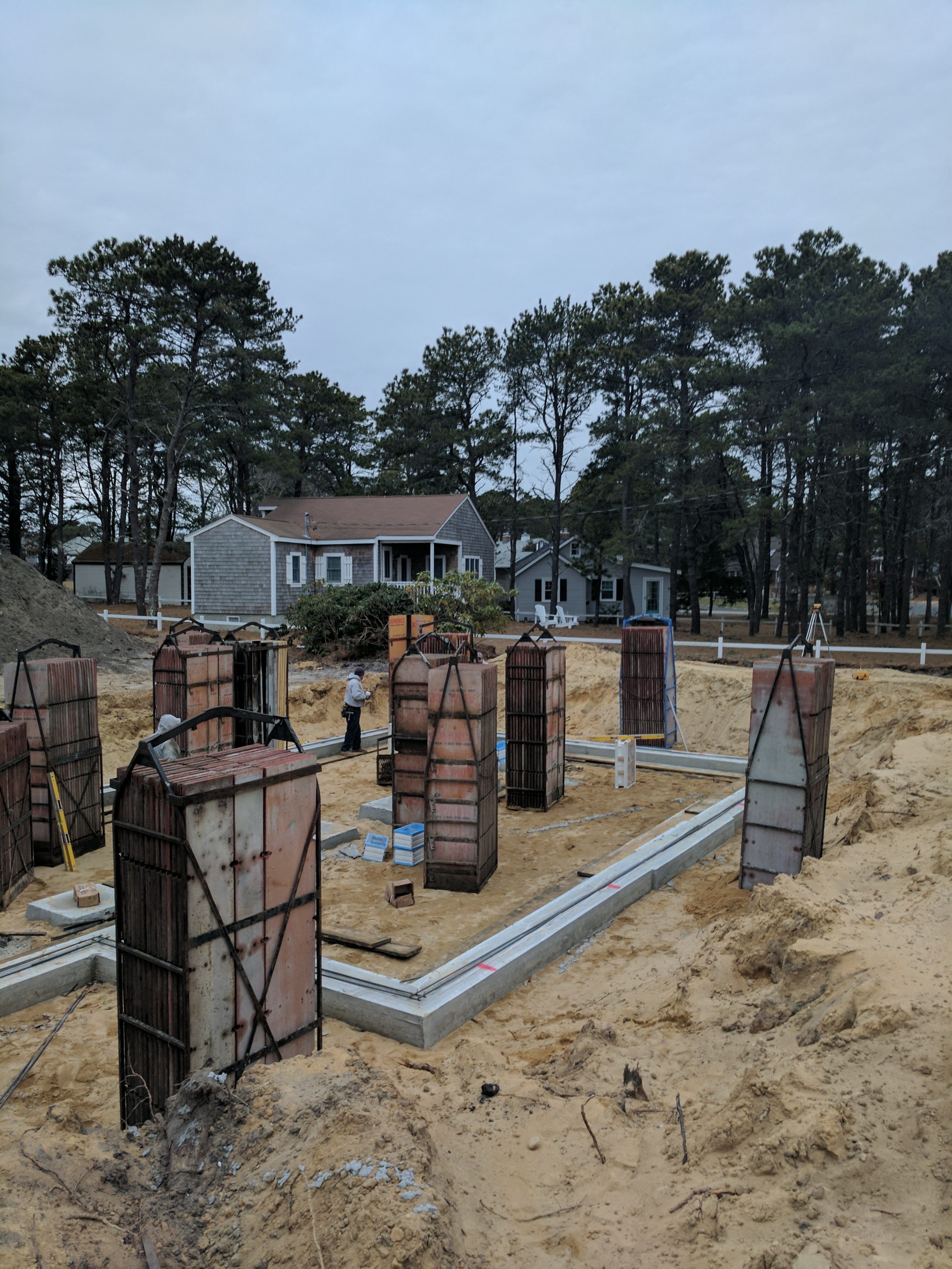 Custom Home Cape Cod, Foundation