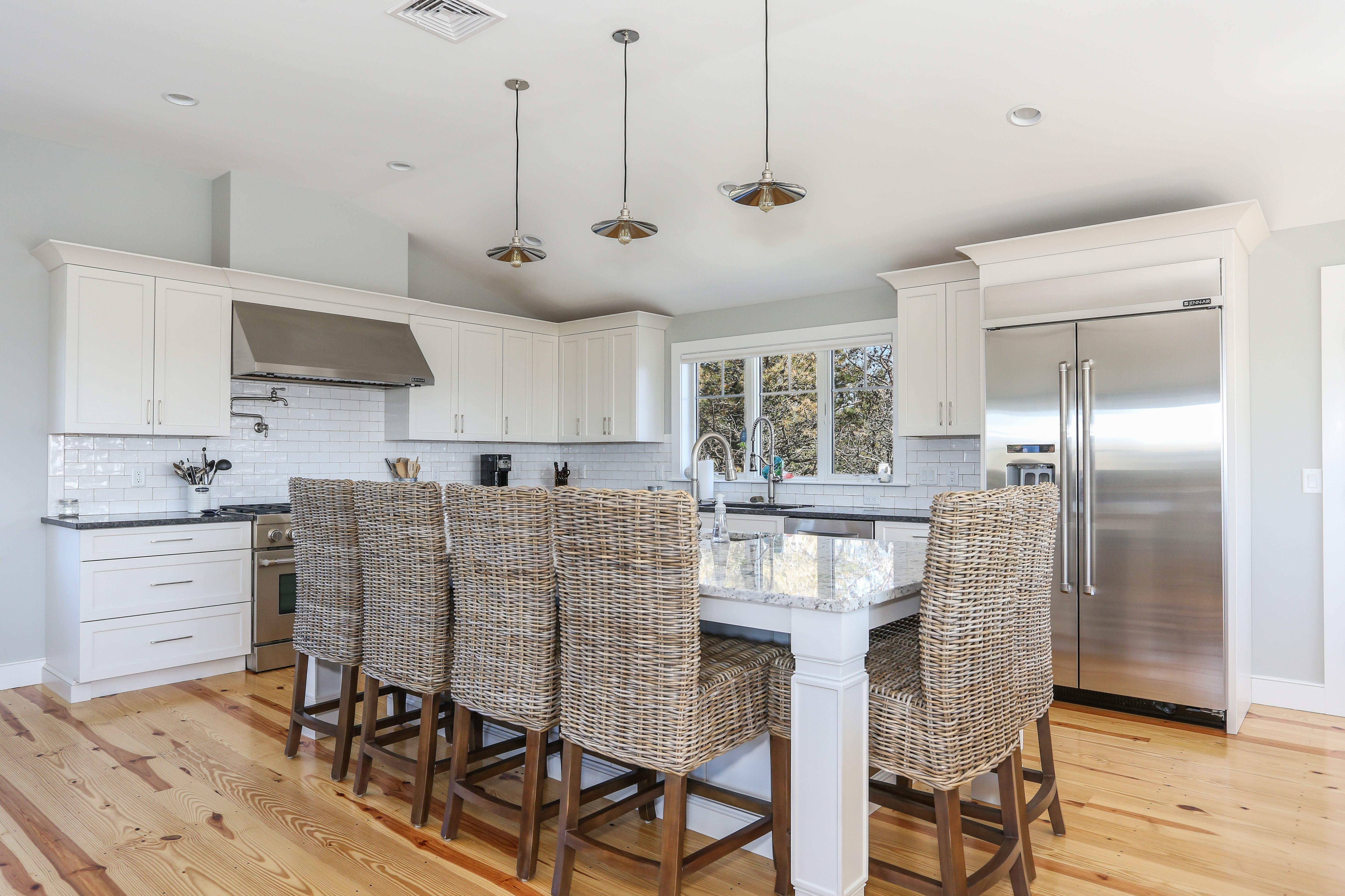 Custom Kitchen with Oversize Island