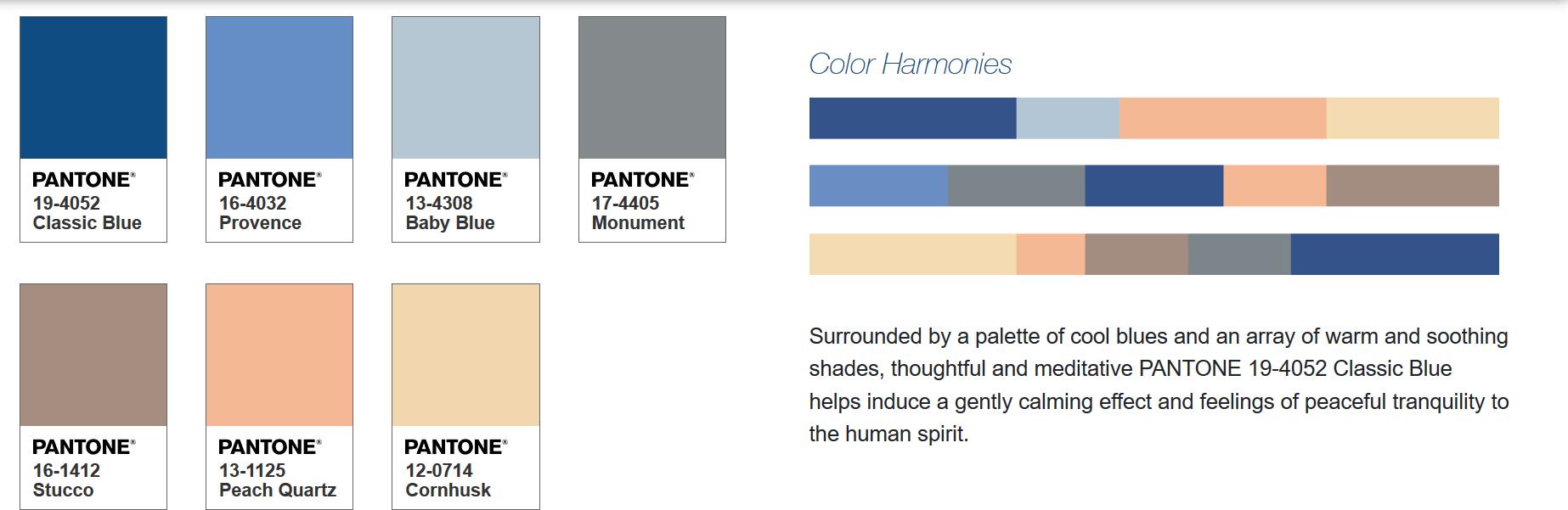 Classic Blue Color Harmonies