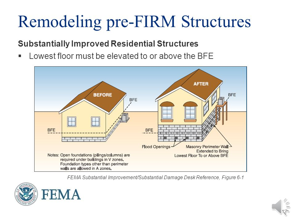 FEMA Substatial Improvement
