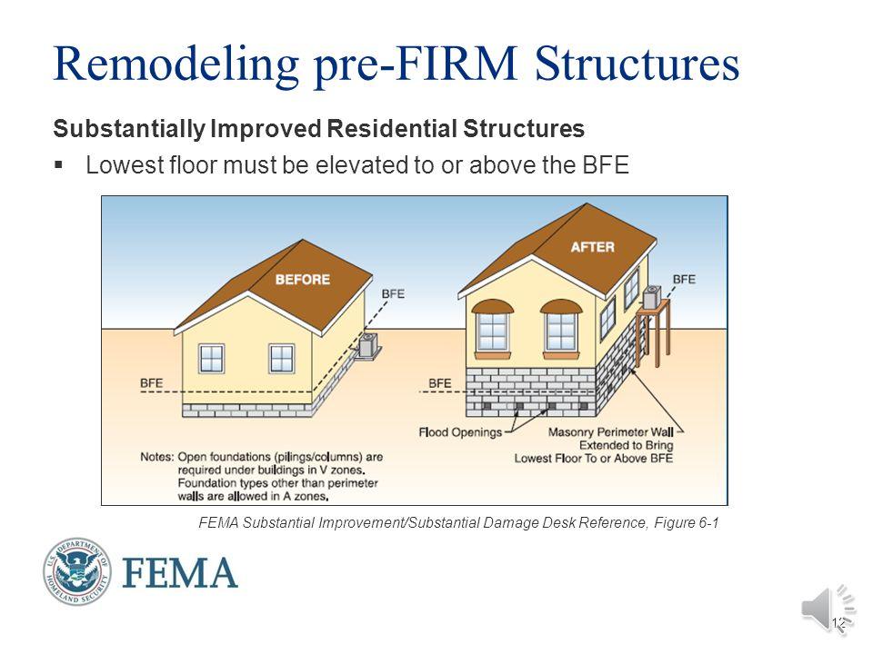 FEMA Substatial Improvement